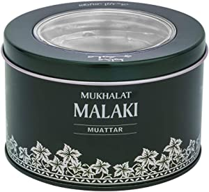 Malaki Muattar (24g) | Long Lasting Oud Wood Incense Chips with Sultry Turkish Rose, Spanish Saffron, Agarwood, Amber, Sandalwood | Use with Charcoal/Electric Bukhoor Burners (Mabkhara) | Frankincense