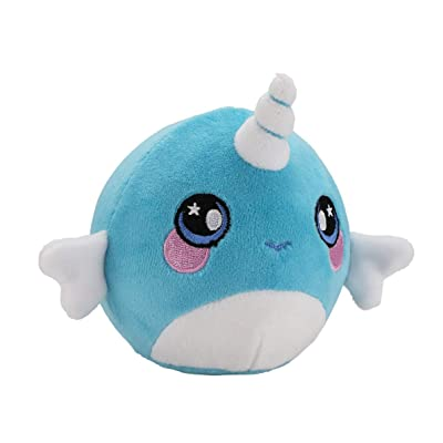 "Squeezamals, Nadia Narwhal - 3.5"" Super-Squishy Foam Stuffed Animal! Squishy, Squeezable, Cute, Soft, Adorable!: Toys & Games"