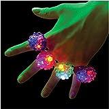 Omiky® 18 Pack Led Gummi Ringe Für Party Gefälligkeiten Jelly Bubble Light Up Finger Spielzeug (Zufällige Farbe)