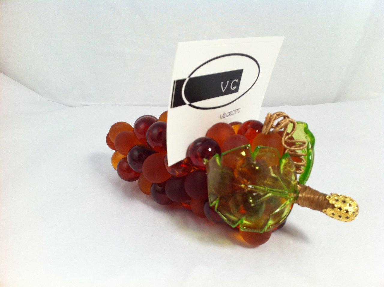 Murano Glass Grape Cluster, Large, Amber