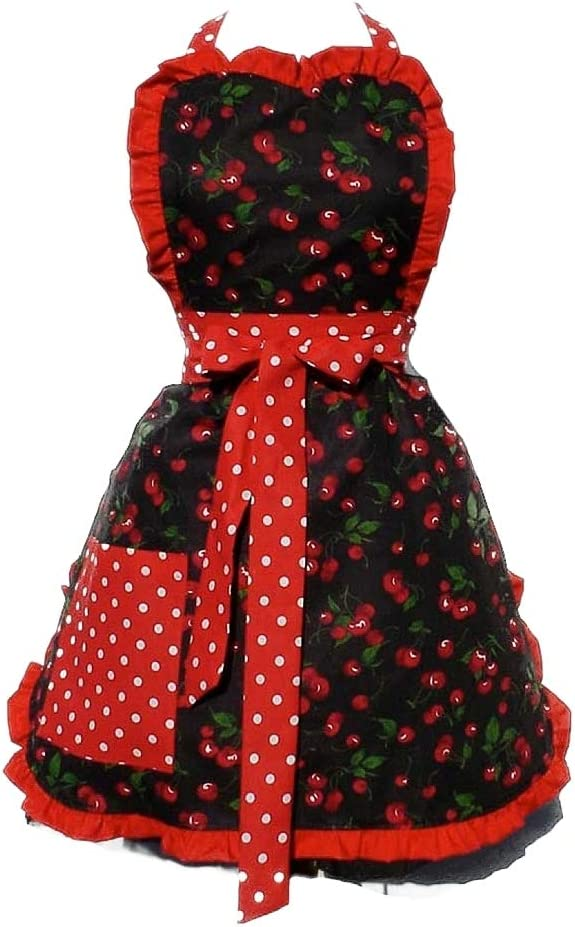Hemet Rock Hard Cherry Rockabilly Apron