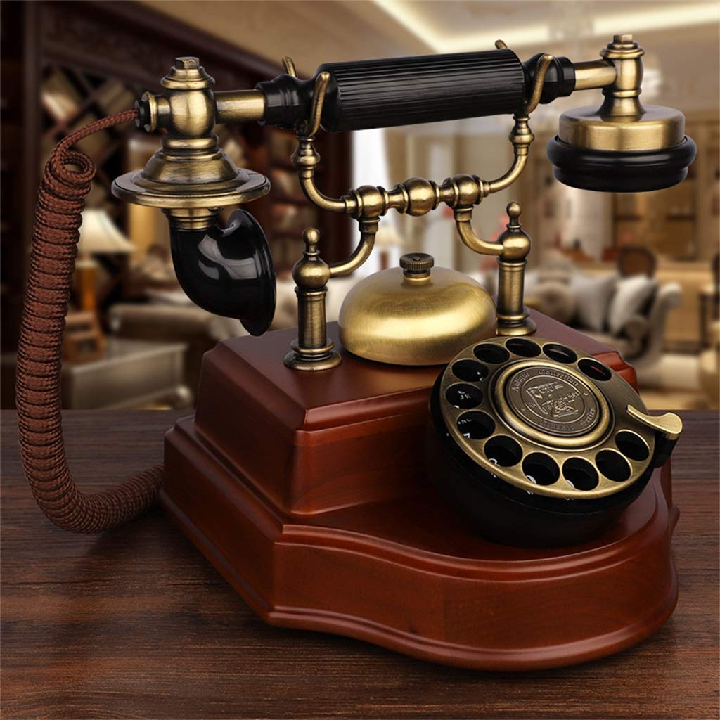 JGBHPNYX Landline Solid Wood European Office Home Retro Landline Phone Old Antique