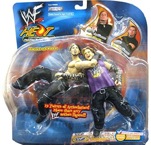 Jeff Hardy VS. Matt Hardy WWE WWF Sunday Night Heat Finishing Moves Series 3 ''Twist of Fate'' Figures by Jakks Pacific