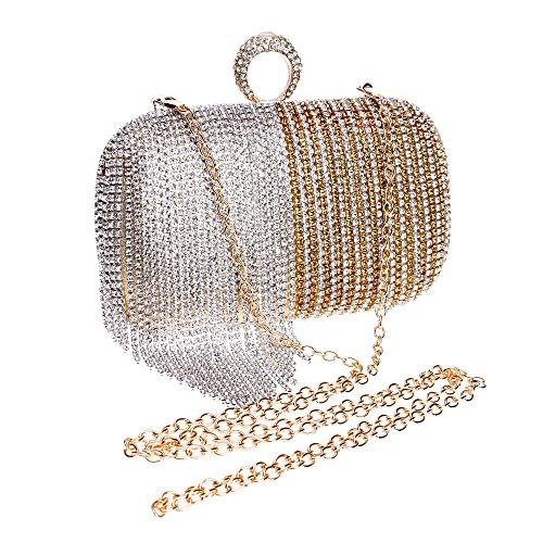 Couleur Party Dégradé Gland Gold Pochette À Sac De Femmes Main Robe Diamant Coloré Soirée azxIS