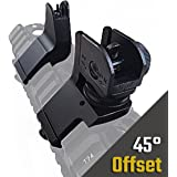 Hojan Outdoor Sports Low-Profile 45 Degree Front & Rear Offset Backup Iron Sights Co-Witness Sight Set