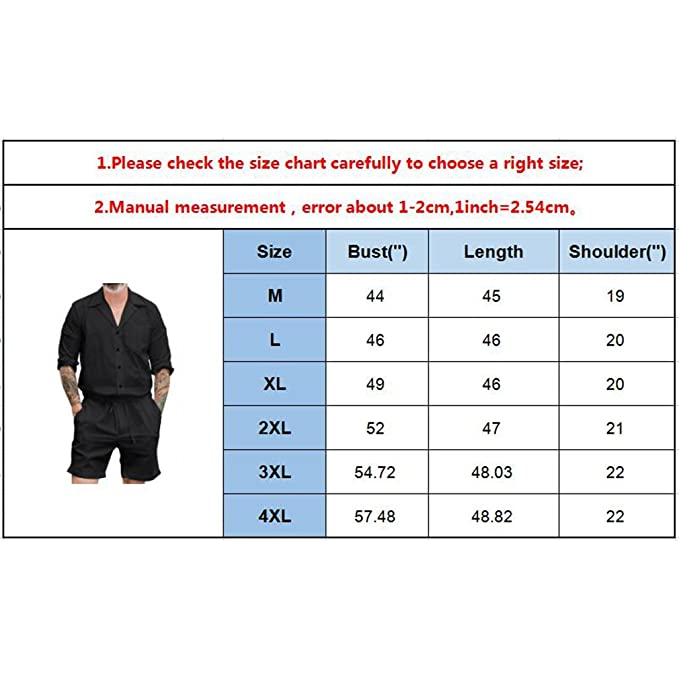 Hibote Mens Long Sleeve Jumpsuit with Fashion Pocket Rompers Single Breasted Bodysuit One Piece Solid Color M-4XL