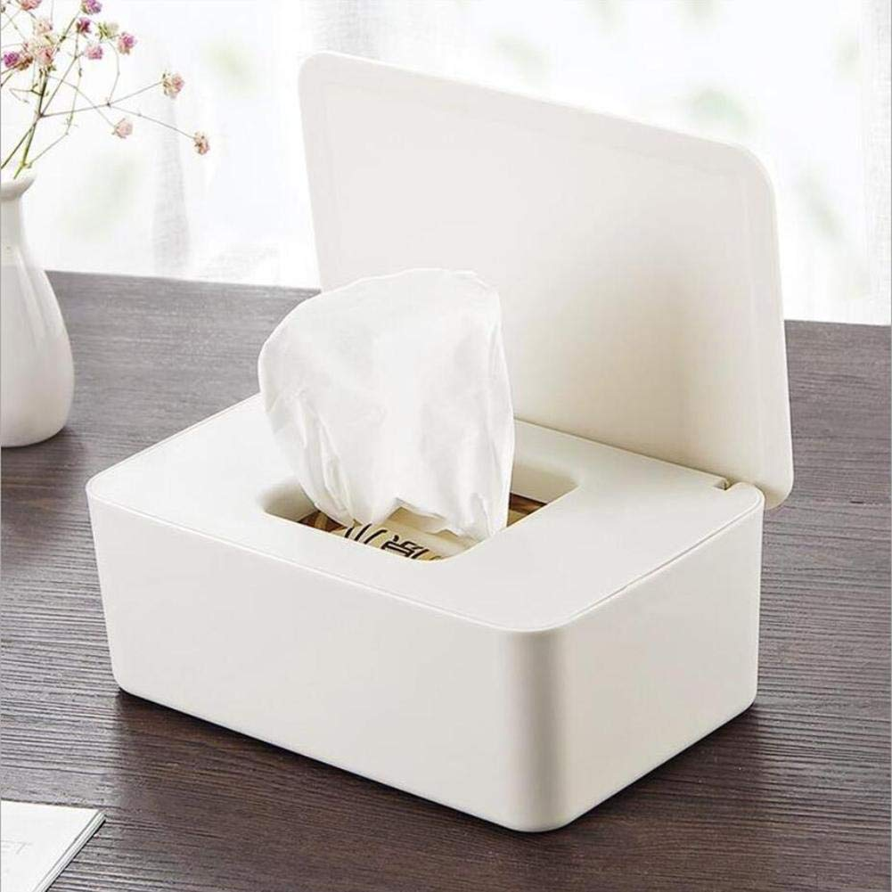 luckything Caja de pa/ñuelos mojados,Soporte para dispensador de toallitas h/úmedas Caja de Almacenamiento de Tejidos con Tapa para Oficina en casa
