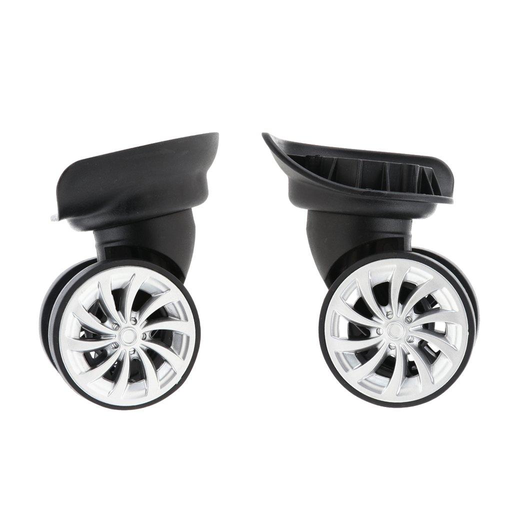 MagiDeal Ruote Valigia Di Sostituzione Protettore Resistente Regolabile Silenziose Con Roller Doppio 49 mm