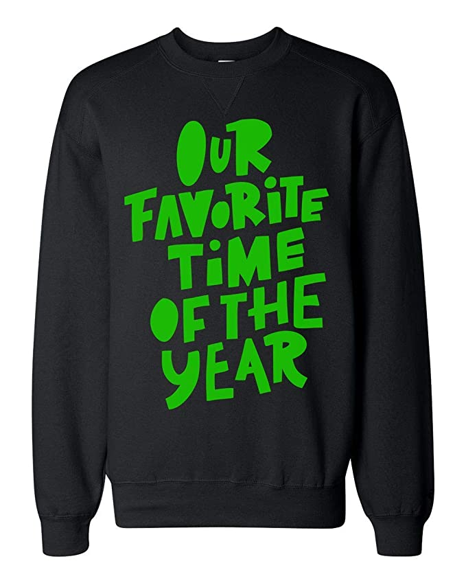 Finest Prints Our Favorite Time of The Year Green Design Sudadera Unisex: Amazon.es: Ropa y accesorios
