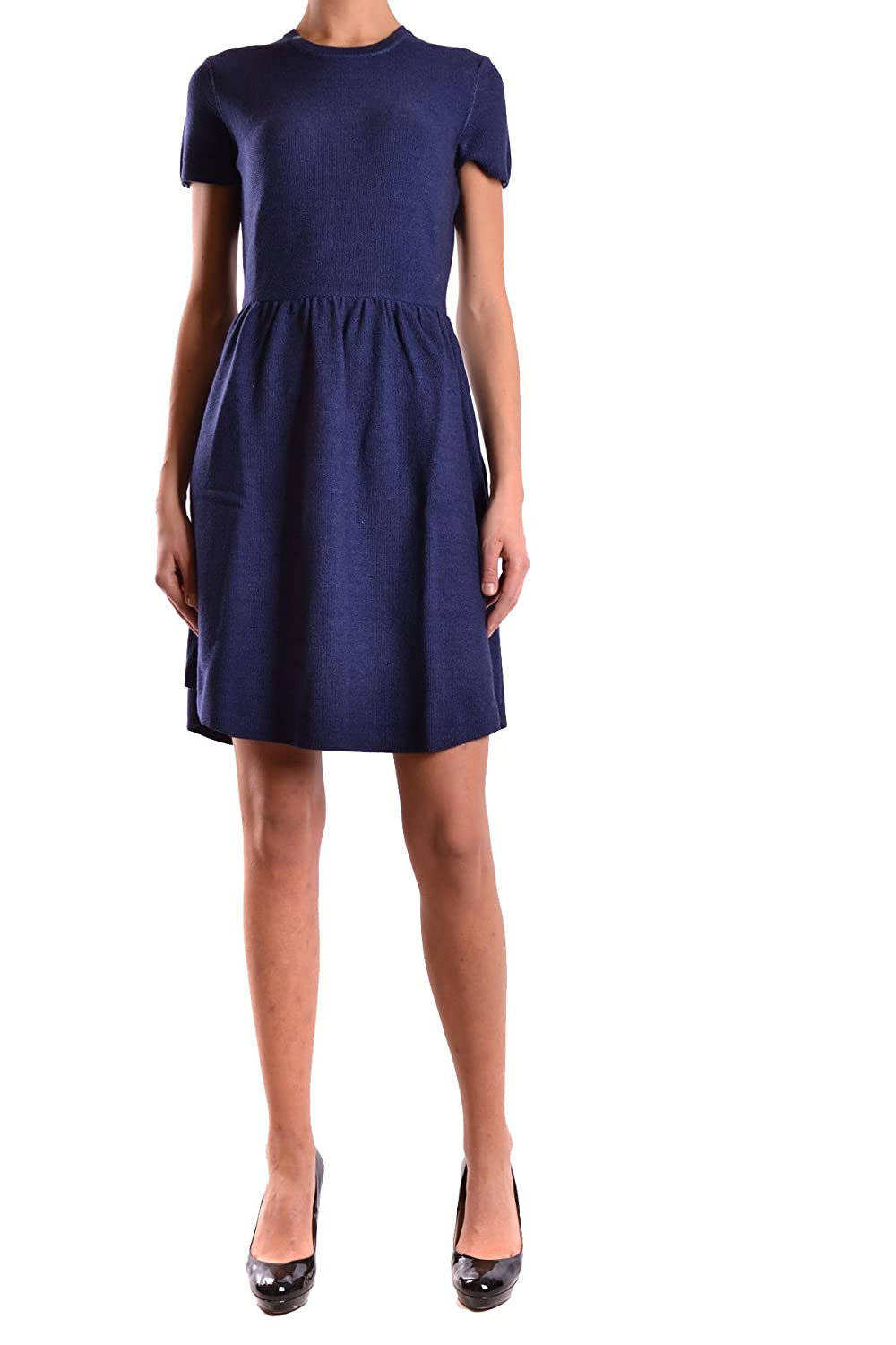 SUN 68 WOMEN'S MCBI286016O BLUE WOOL DRESS