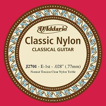 DAddario J2701, cuerda individual de nailon para guitarra clásica, nivel principiante,