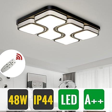 HG® 48W LED luz de techo comedor tienda techo iluminación dimmable vestíbulo luz