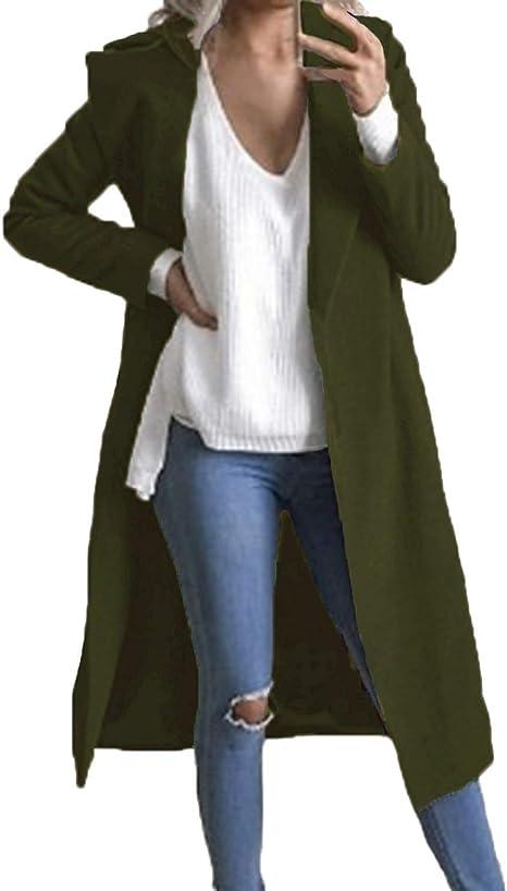 Amazon.com: Auxo - Abrigo de manga larga para mujer, abrigo ...