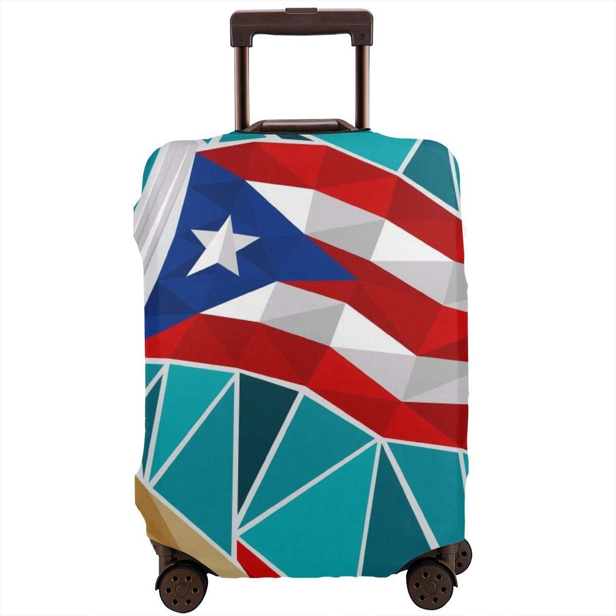 Louise Morrison プエルトリコ国旗 旅行かばん プロテクター スーツケースカバー 18~32インチ S ブラック lxhei83_29659641 B07SGW67JQ  Small