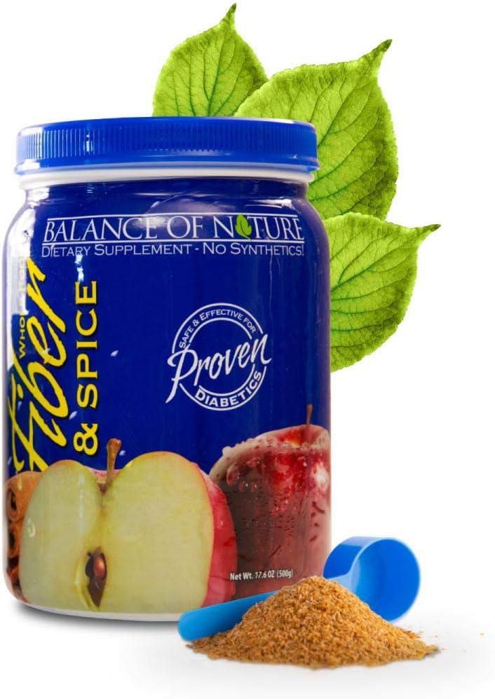 Balance of Nature Fiber & Spice Supplement - Digestive Health, Supports Regularity, Vegan, No Additives/Synthetics, 100% Natural - 17.6 oz, Powder
