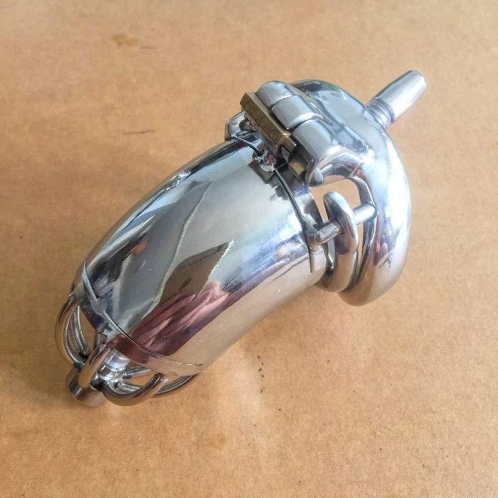 LYN- Sexo Juguetes eróticos Cinturones de castidad Sex Toy Anti-shedding Catheter Anti-shedding Toy Lock Male Toy 3 Size (silver) (Tamaño : 50mm) 215894