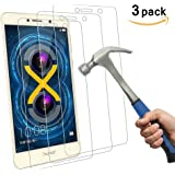 Aliga Honor 6X Glass Screen Protector, [ 3-Pack ] 9H Hardness 2.5D Honor 6X Tempered Glass Bubble-Free Glass Screen Protectors for Huawei Honor 6X