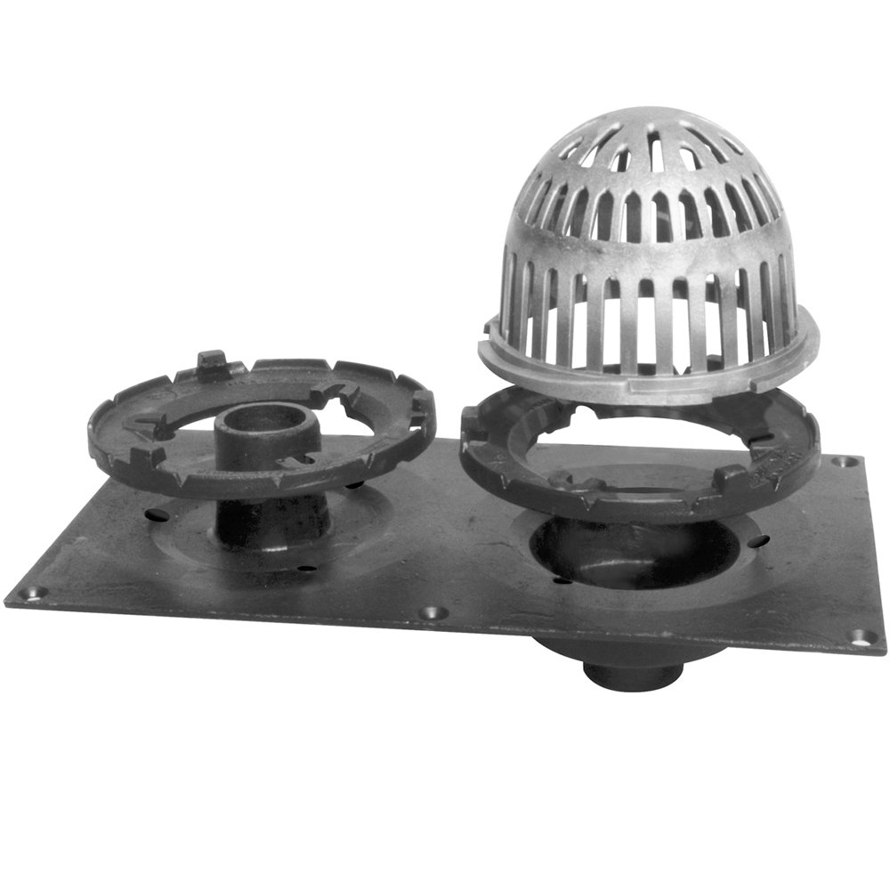 LSP T-0074 Cast Iron Roof Drain with Overflow, 4-Inch