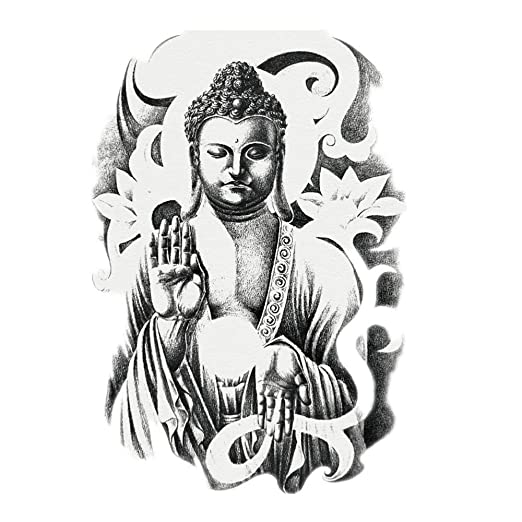 KANKOO Pegatinas de Tatuaje Pegatinas de Tatuaje Temporal de Buda ...