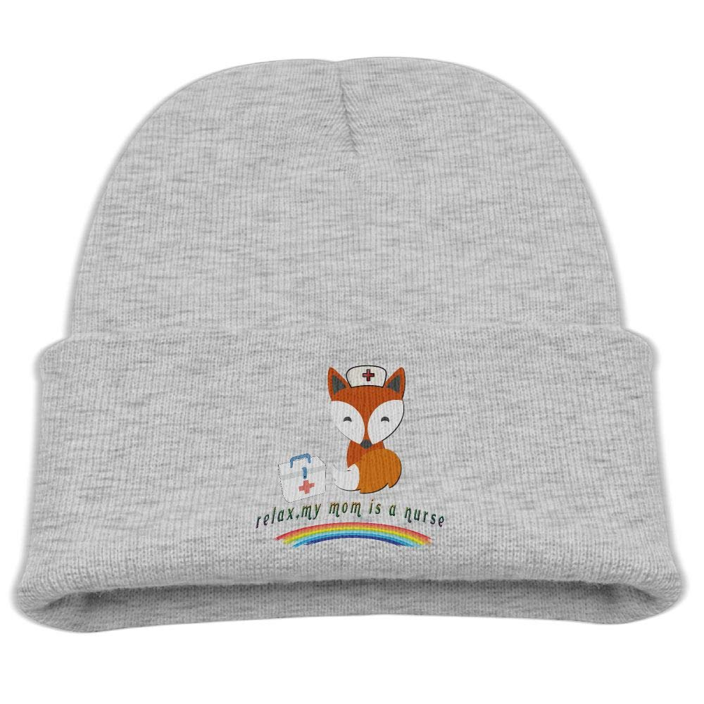 Banana King My Mom is A Nurse Fox Baby Beanie Hat Toddler Winter Warm Knit Woolen Cap for Boys//Girls