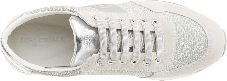 lumberjack Connie, Chaussures de Gymnastique Femme Blanc White Silver M0167