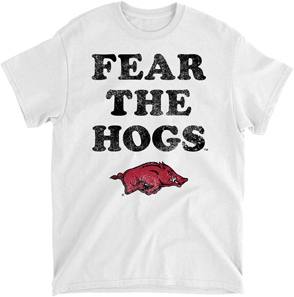 18ARKPRD Mens//Womens Boyfriend Long Sleeve Tee Official NCAA University of Arkansas Razorbacks