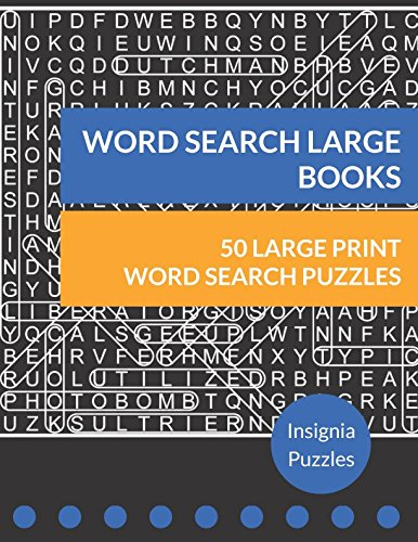Word Search Large Books: One Puzzle Per Page ()