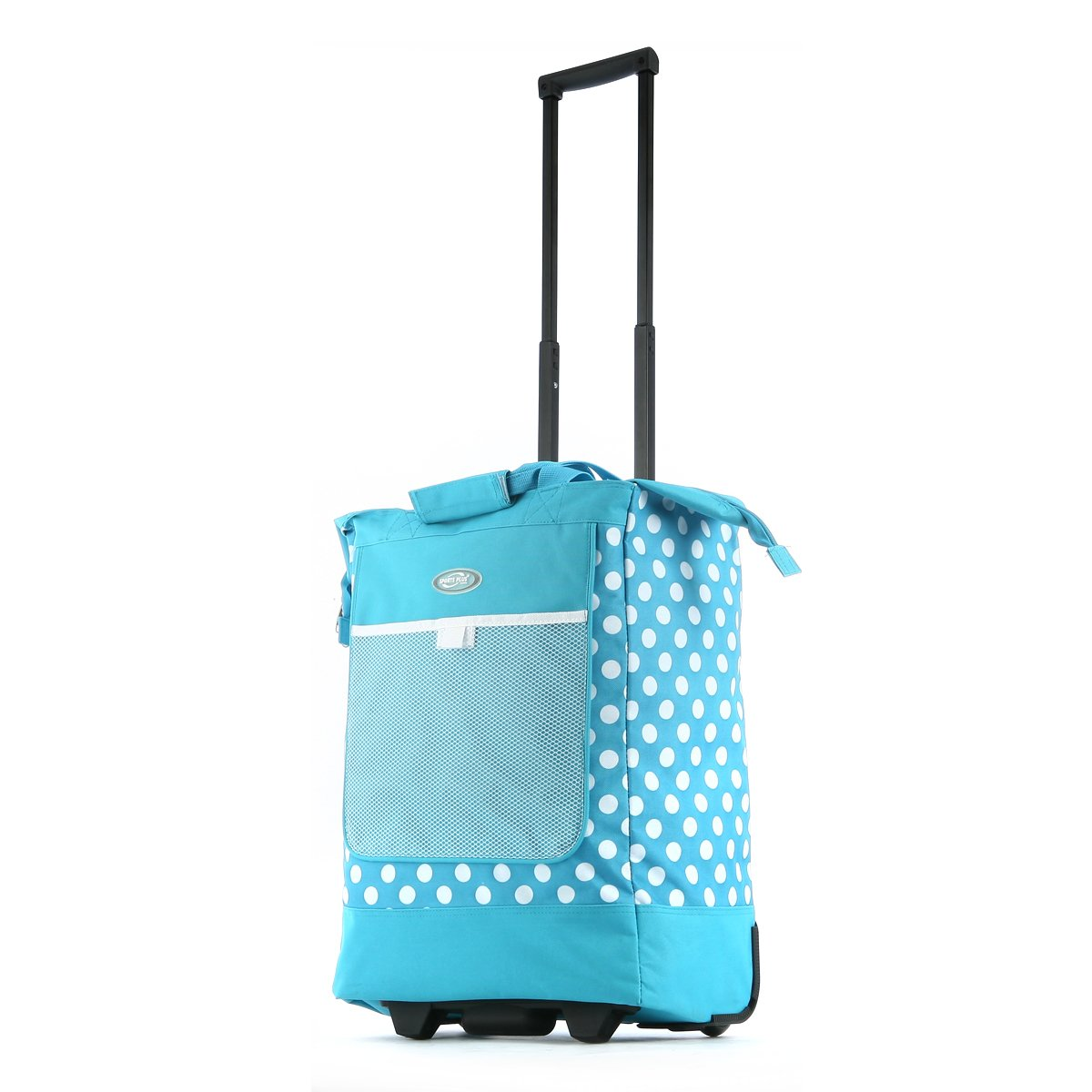 Olympia Luggage Rolling Printed Shopper Tote,Blue,One Size
