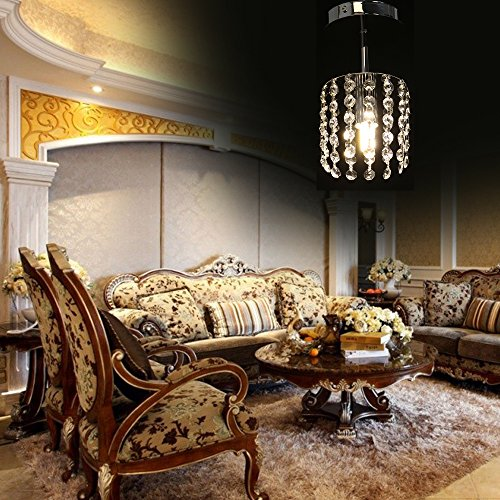 Hot Sale Crystal Chandelier Ceiling Pendant Light Fixtures Living Room Lamp Lighting E14 Bulb Base Recessed