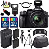 Panasonic Lumix DMC-FZ300 Digital Camera + Extra Battery + Charger + 96GB For Sale