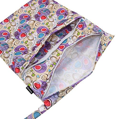 Damero de viaje lindo mojado bebé y pañales de tela en seco bolsa de asas Organizar(Tree) sweet heart