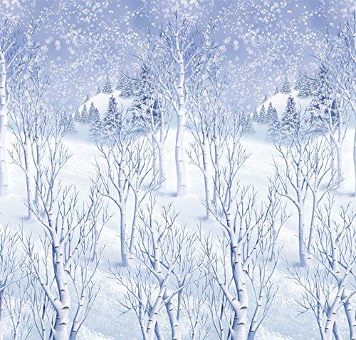 Winter Wonderland Scene Setters Plastic Room Rolls Wall Decoration, 1 Rolls, 4 x 40 (Winter Wonderland Decoration)