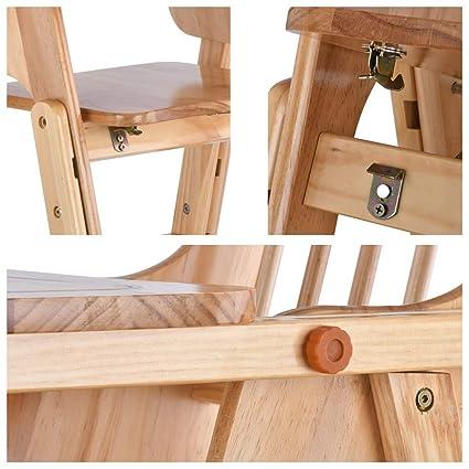 h/öhenverstellbar Babystuhl f/ür M/ädchen und Jungen Klappbarer Hochstuhl aus Holz mit herausnehmbarem Tablett und Rollen 6-12 Jahre
