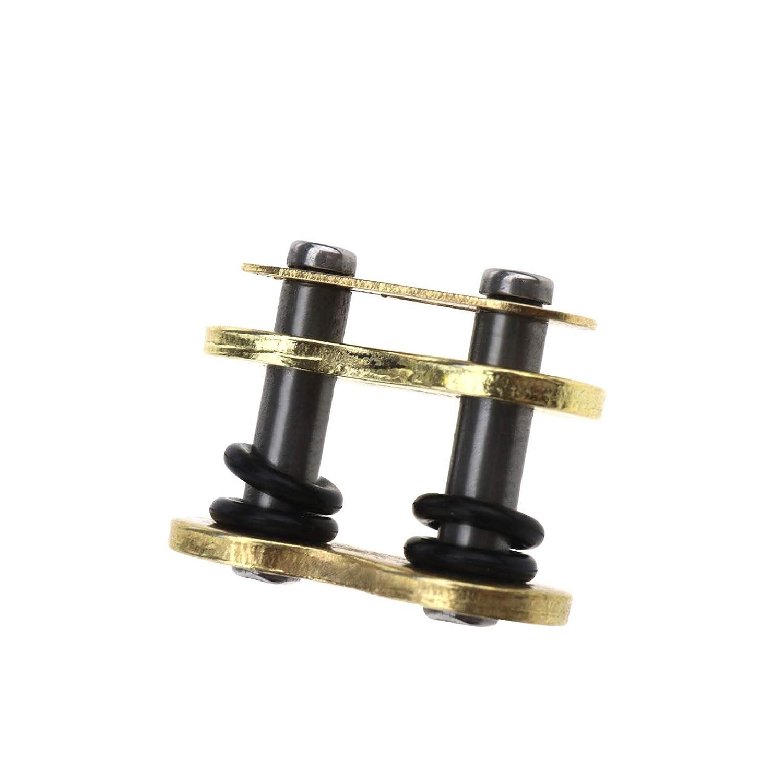 Accesorios de Repuesto 525VX G/&B525VX VX2 Cadenas D2D 525 Cadena de eslabones de Oro con Cadena en Forma de X para Remaches de Motocicleta