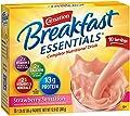 Carnation Breakfast Essentials Powder Drink Mix, Strawberry Sensation, 10 Count Box of 1.26 oz Packets