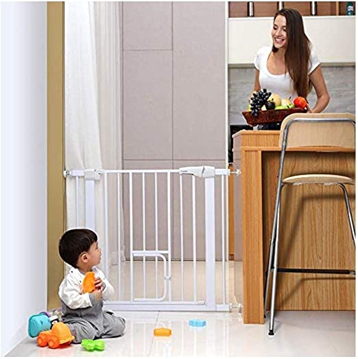 Puertas De Seguridad Del Bebé Con Los Gatos Puerta Cierre Automático For Escaleras Cerca Rejilla De