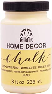 FolkArt Home Decor Chalk Furniture & Craft Paint in Assorted Colors, 8 ounce, Summer Porch