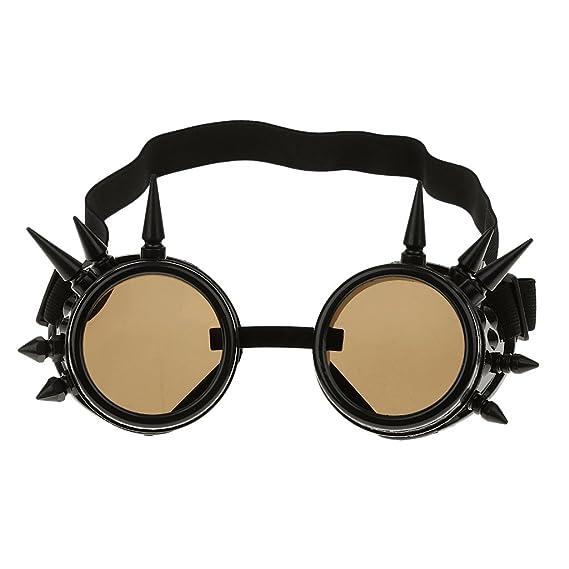 P Prettyia Gafas de Sol Soldador Steampunk Gótico Picos Cosplay Vintage Mantenimiento de Hogar y Vivienda - Negro, única: Amazon.es: Ropa y accesorios