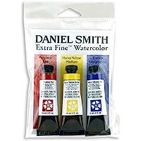 DANIEL SMITH Extra Fine Primary Watercolor Set, 3 Tubes, 15ml, 285250066, Multicolor, 15 ml