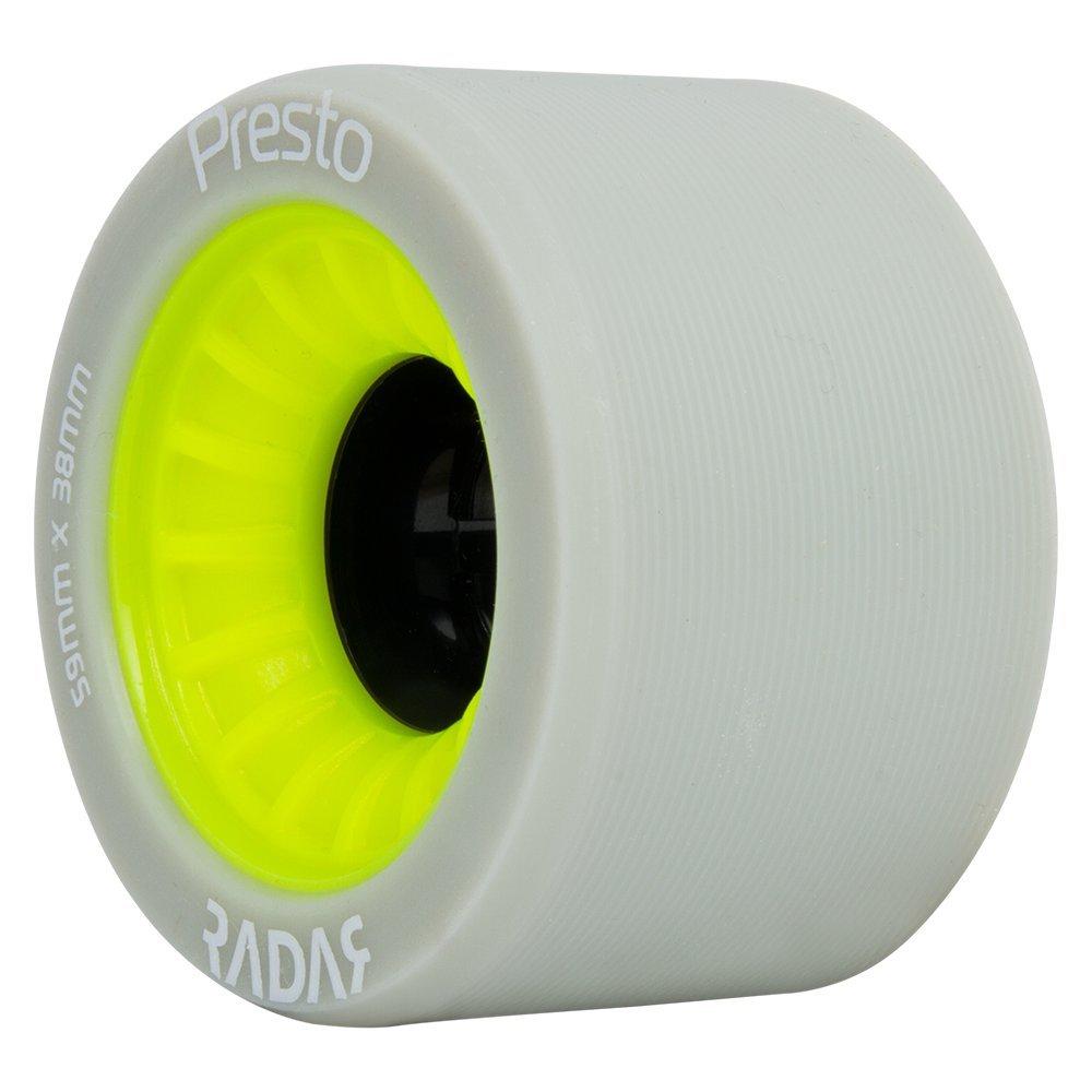 Radar Wheels - Presto - Roller Skate Wheels - 4 Pack of 59mm x 38mm Wheels | Yellow | 91A Hardness by Radar