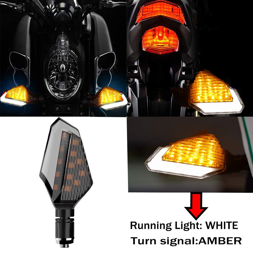 1Pair,Pack of 2 Cynemo Universal Motorcycle Led Turn Signal Lights Blinkers Front Rear Indicators for Motorbike Yamaha Scooter Harley Cruiser Honda Kawasaki BMW Suzuki