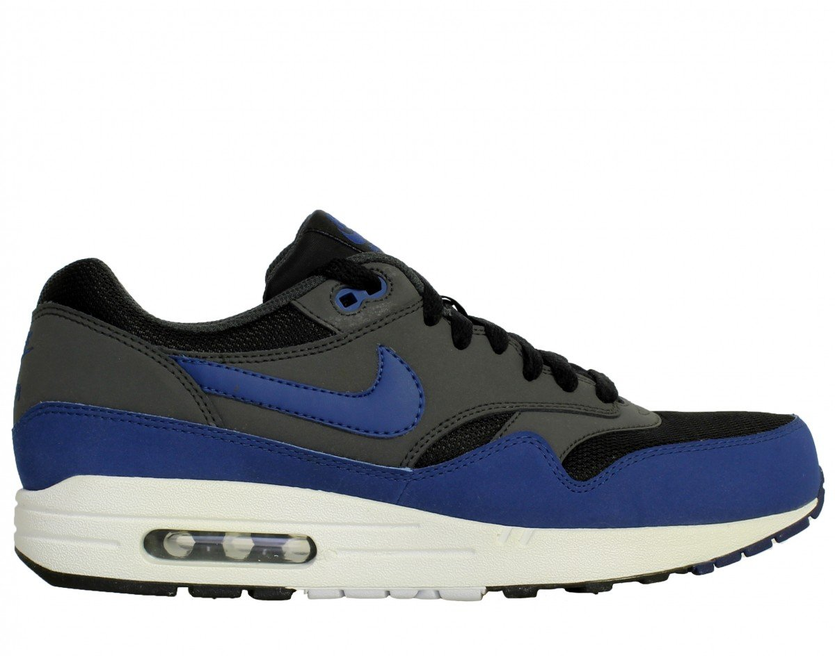Nike Air Max 1 Essential 537383 Herren Laufschuhe  43 EU|Black/Dark Royal Blue-anthracite-white