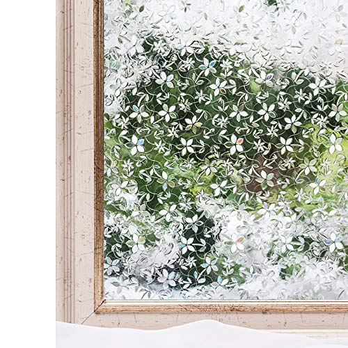 CottonColors Brand Window Film 3D Ecology Non Toxic Static Decoration for UV Rejection Heat Control Energy Saving Privacy Glass Stickers,35.4x78.7 Inches