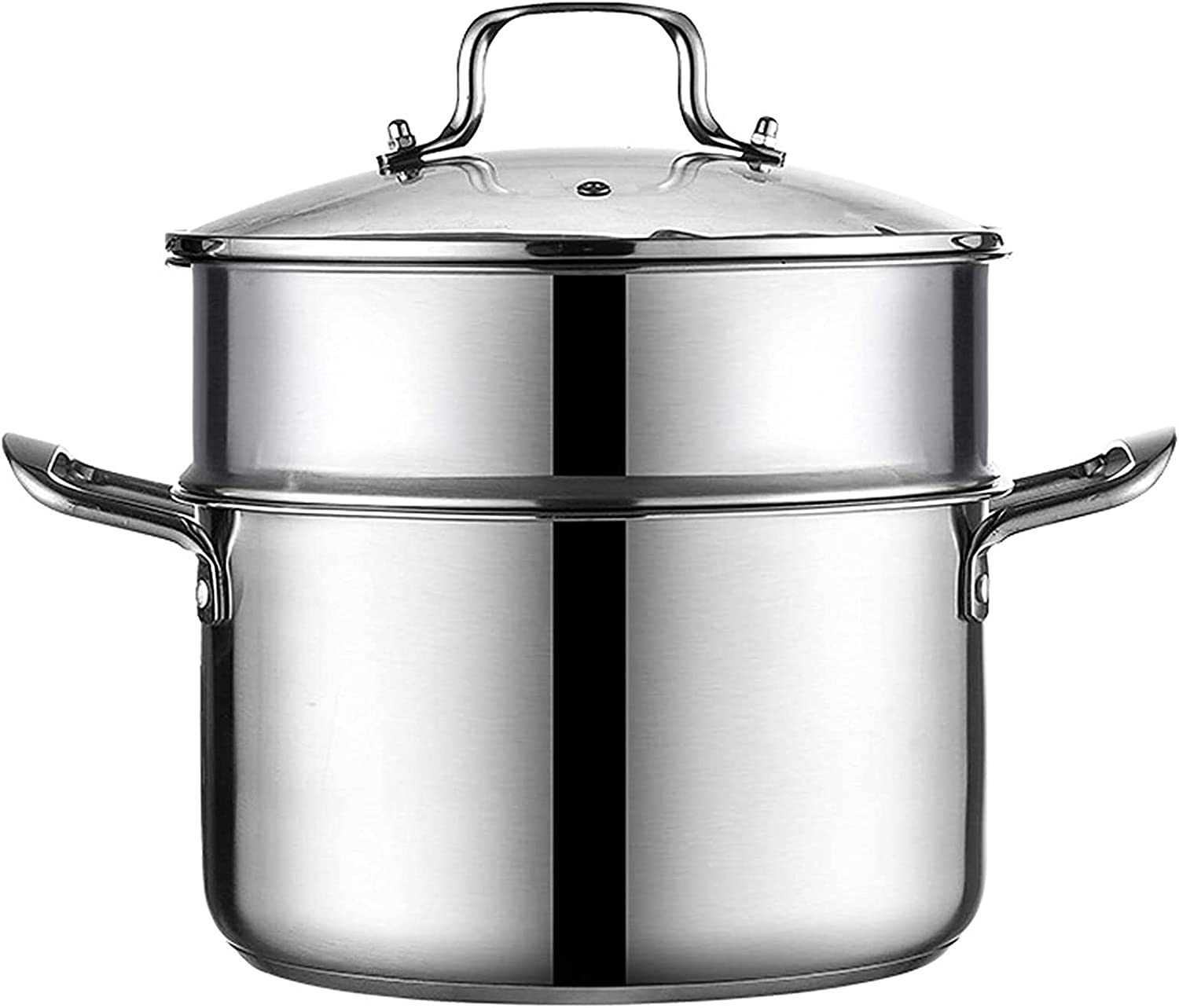 Pans for cooking Steamer Pot Stainless Steel Cooker Food Steamer Steamer Pot Pan Set with Lid Induction Cooker Pan for Kitchen Cooking Tool Style 2 24cm