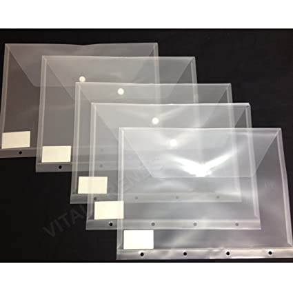 12 Carpetas de plástico para guardar documentos de tamaño A4 ...