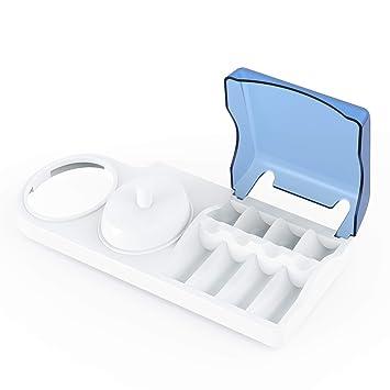 Titular de cepillo de dientes para cepillos de dientes eléctricos Oral-B Poketech reposar durante 4 Cabezales de Cargador - Blanco: Amazon.es: Hogar