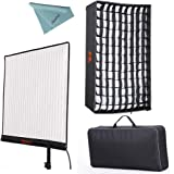 Falcon Eyes RX-24TDX 150W Roll-flex Photo Light 3000K-5600K Bi-Color LED Photo Light with Honeycomb Grid Softbox Flexible Continuous Output Lighting For Shooting (RX-24TDX+RX-24TDXSBHC)