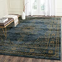 Safavieh Serenity Collection SER210C Turquoise and Gold Area Rug (8 x 10)