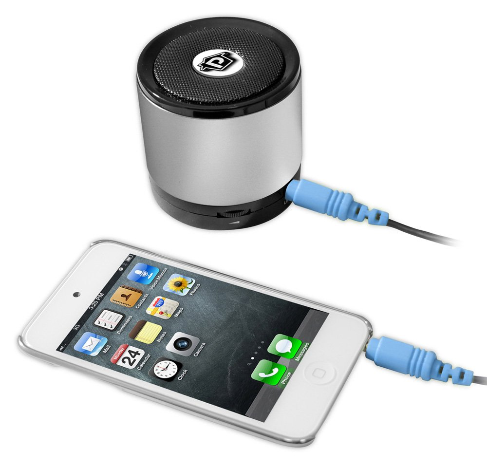 Pyle Pbs2sl Bluetooth Mini Speaker With Hands Free Call Musik Box Answering Silver Home Audio Theater