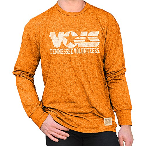 Volunteers Tennessee Sleeve Long (Elite Fan Shop Tennessee Volunteers Retro Long Sleeve Tshirt Orange - XXL)